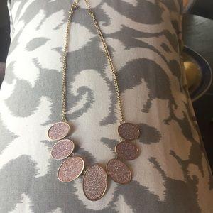 Druzy style statement necklace